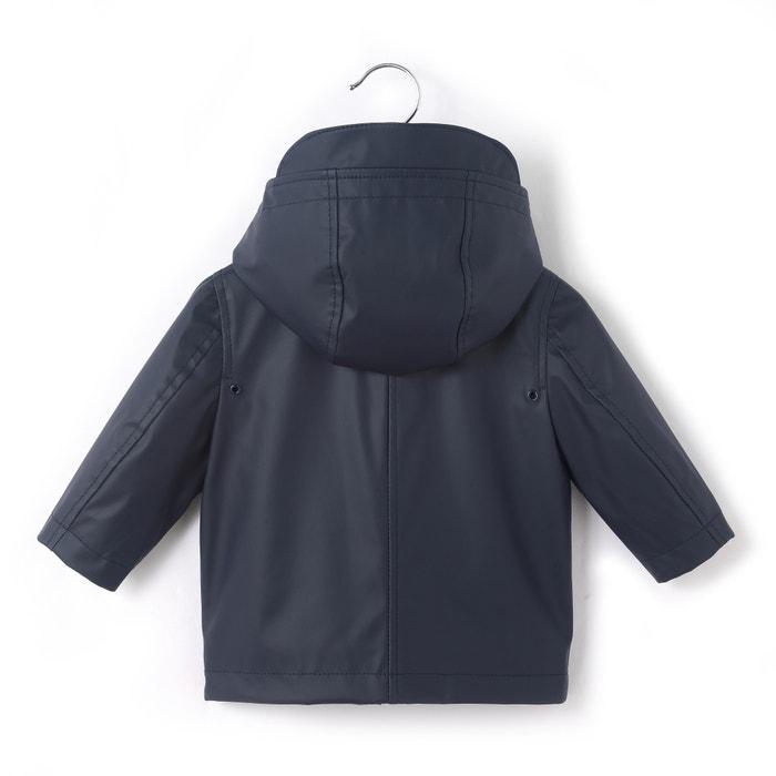 Hooded Waterproof Waxed Jacket, 1 Month-3 Yrs