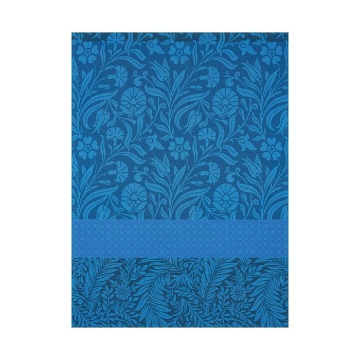 Torchon etoffe saphir 60x80 100 coton bleu le jacquard francais la redoute - Torchon jacquard francais ...