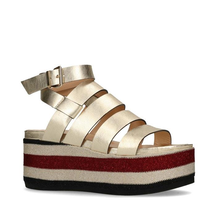 Sandales à plateforme métallisées Sacha