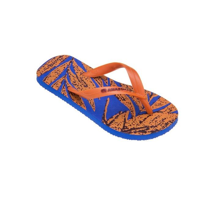 Tongs Orange Bleu Enjoy garçon AMAZONAS Buriti et T4HwxxdSq