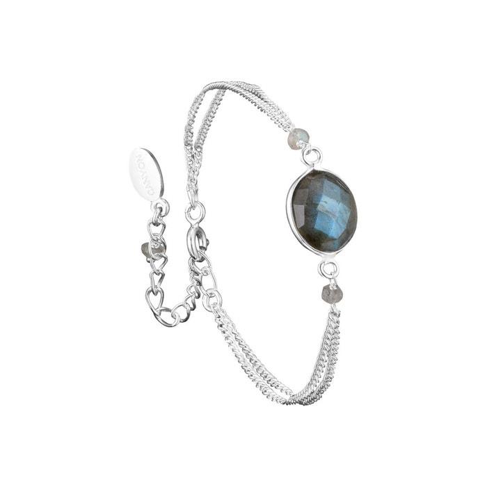code promo 3a8f3 20ac8 Bracelet chaîne en argent 925 passivé, Labradorite, Gris, 2.72g