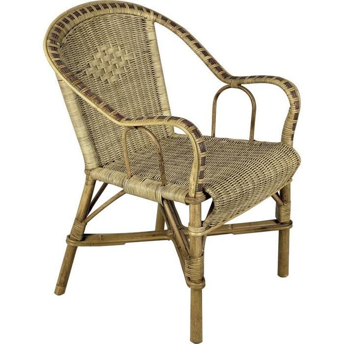 fauteuil en manau et rotin naturel aubry gaspard la redoute. Black Bedroom Furniture Sets. Home Design Ideas