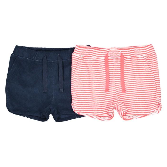 Confezione da 2 shorts in spugna da 1 mese a 3 anni, Oeko Tex  La Redoute Collections image 0