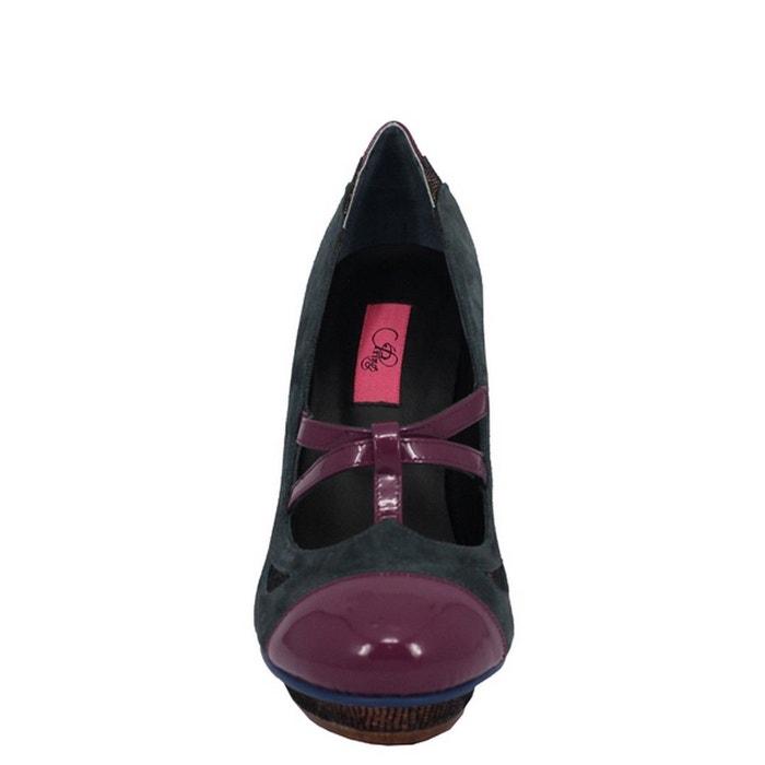 Chaussure femme en cuir elodini bleu Pring Paris