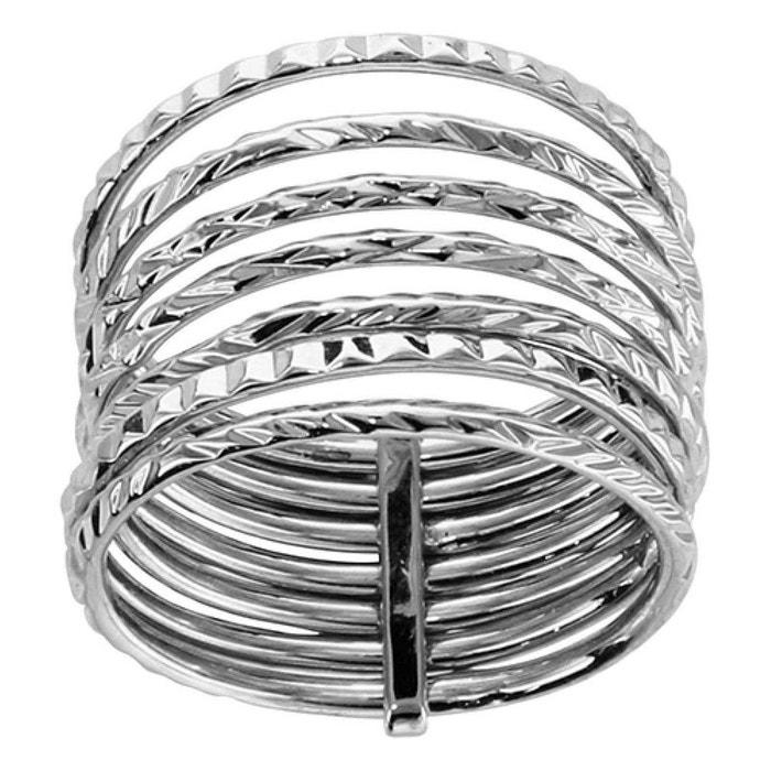 Bague femme 7 anneaux liés semainier diamanté argent 925 couleur unique So Chic Bijoux | La Redoute Jeu Très Pas Cher E71ShR