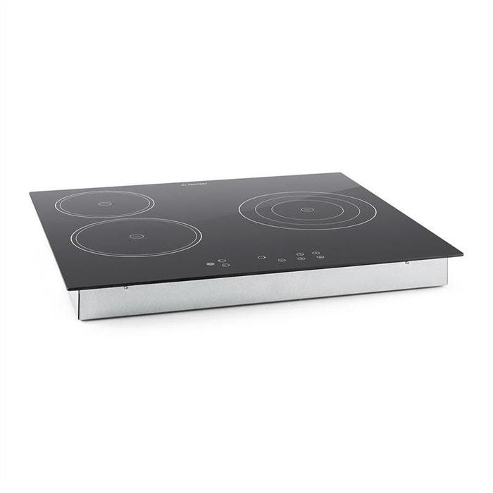 klarstein virtuosa plaque de cuisson encastrable vitroc ramique verre 3 zones klarstein la. Black Bedroom Furniture Sets. Home Design Ideas
