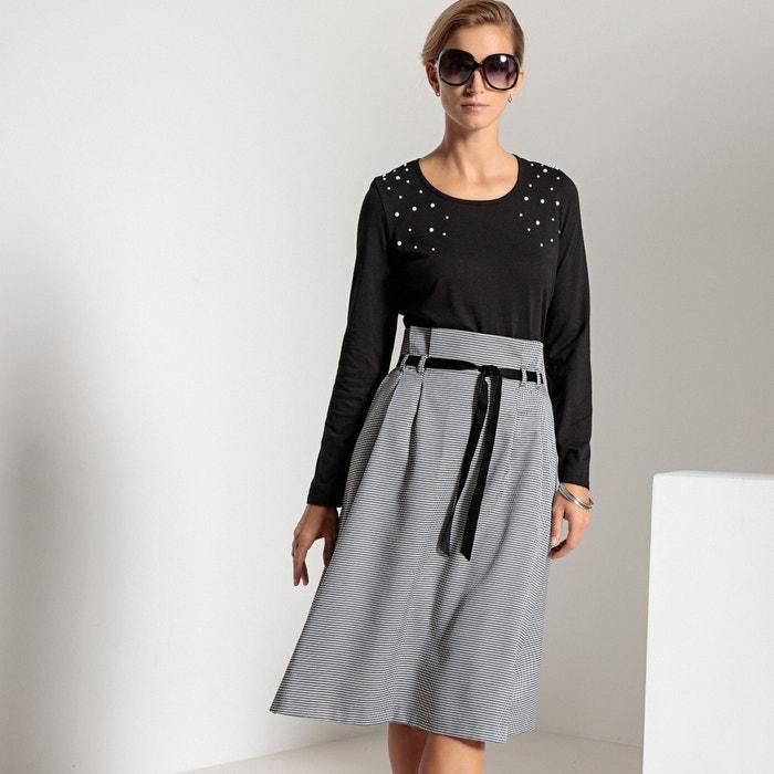 T-shirt scollo rotondo, cotone & modal  ANNE WEYBURN image 0