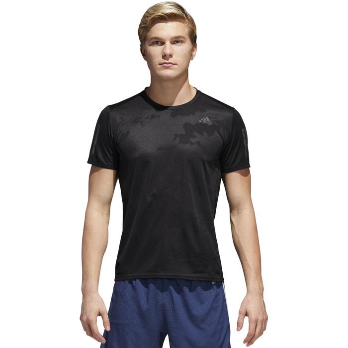 ADIDAS con cuello redondo estampado PERFORMANCE de y corta manga delante Camiseta rEqfrF
