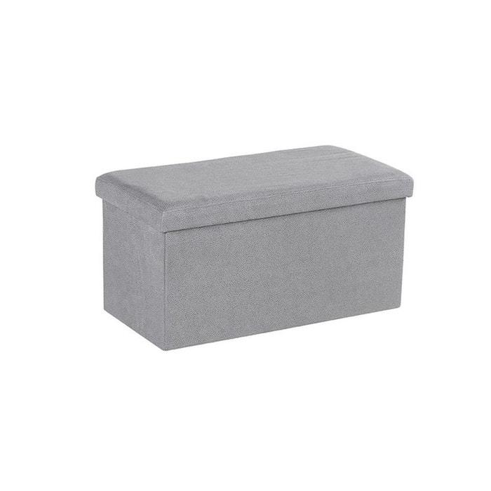 banc coffre tissu gris clair su dine pitch gris pier import la redoute. Black Bedroom Furniture Sets. Home Design Ideas