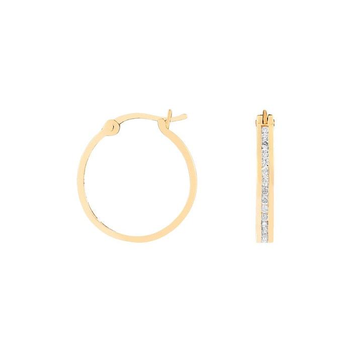 Boucles d'oreilles or 750/1000 diamant blanc Cleor | La Redoute Vente Nouvelle La Vente En Ligne Moins De 70 Dollars PJ10fRnR
