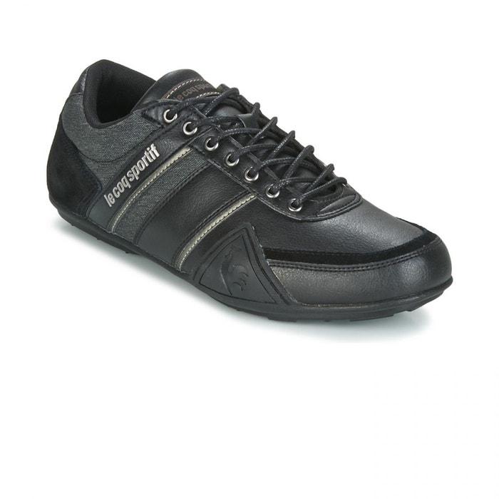 Chaussures cerdon s lea 2 tones black noir Le Coq Sportif