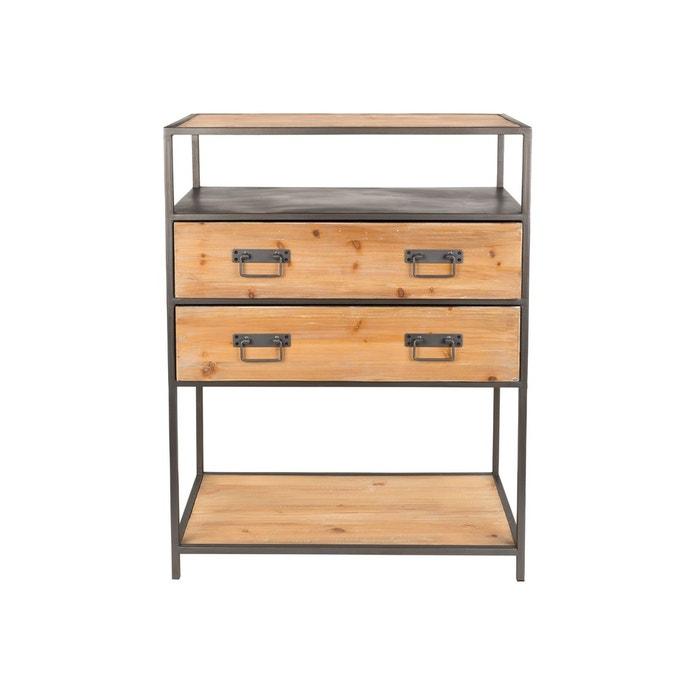 console industrielle samuel boite design bois boite a design la redoute. Black Bedroom Furniture Sets. Home Design Ideas