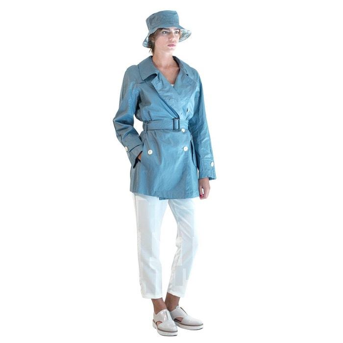 trench femme avec chapeau bleu gris pret pour partir la redoute. Black Bedroom Furniture Sets. Home Design Ideas