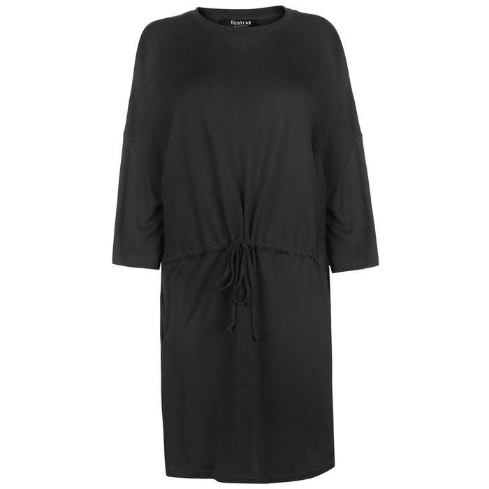 314b41f5760 Robe mi-longue coupe large noir Firetrap