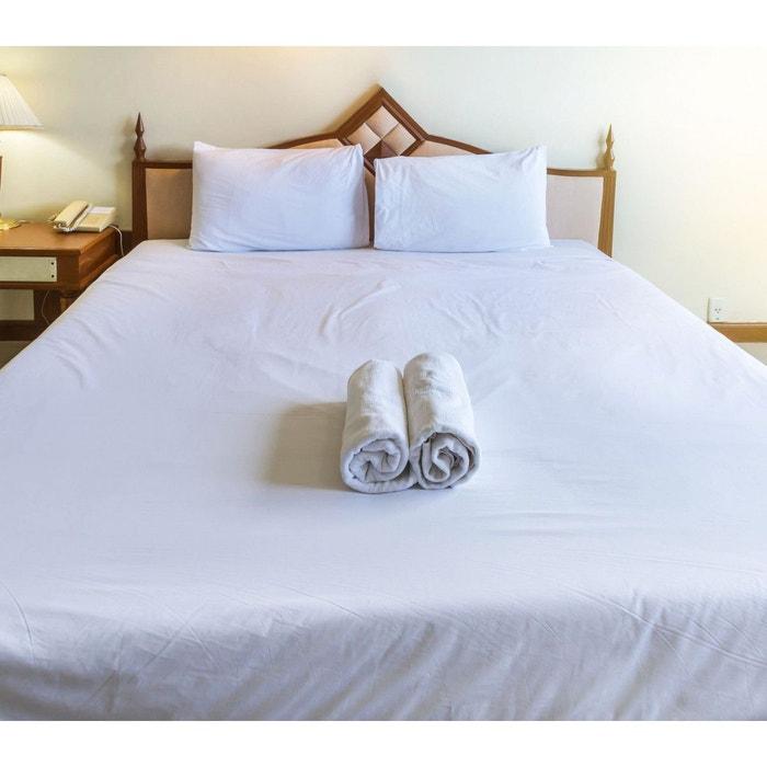 drap housse blanc bonnet 30 cm 100 coton blanc terre de nuit la redoute. Black Bedroom Furniture Sets. Home Design Ideas