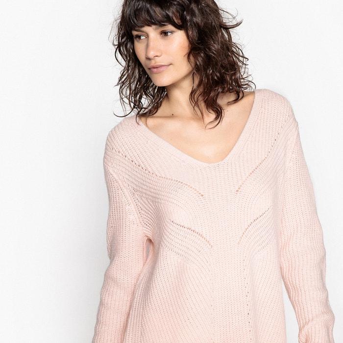 Pull tunica, scollo a V, lana  La Redoute Collections image 0