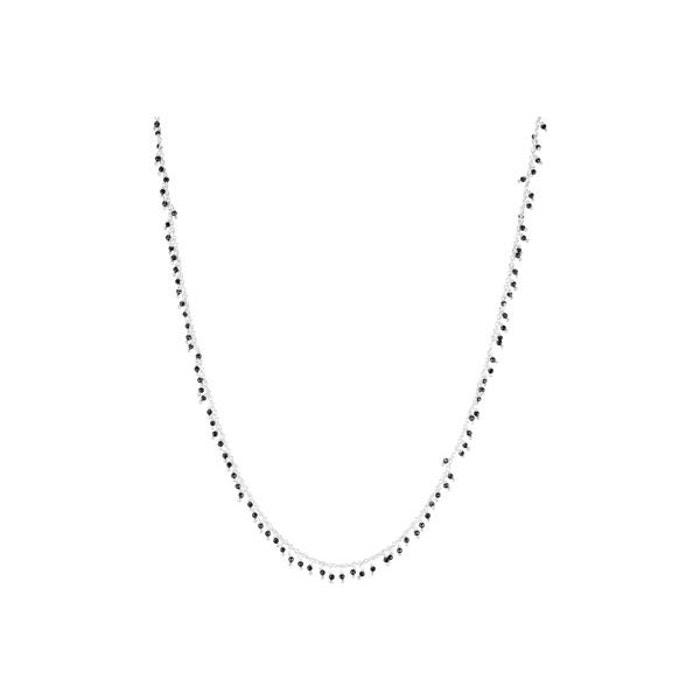 Collier ras de cou en argent 925 passivé, onyx, noir, 6.23g noir Canyon | La Redoute
