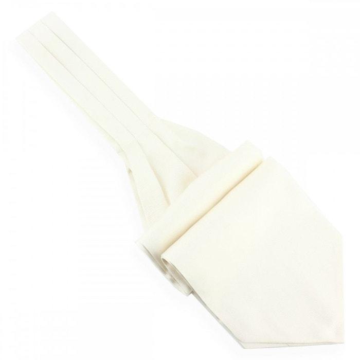 Cravate ascot en soie, zucchero, fait à la main blanc Tony Et Paul | La Redoute