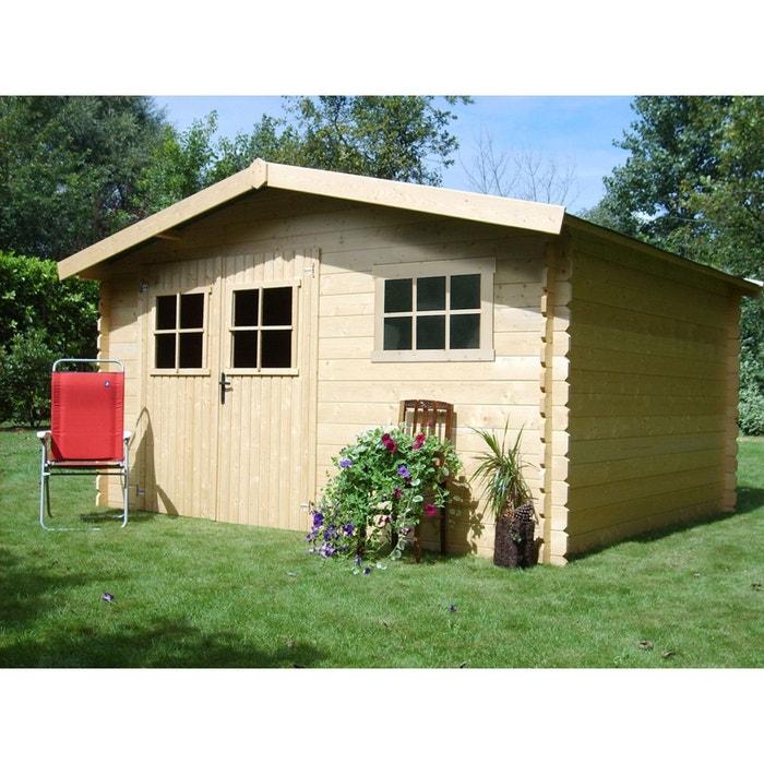 Abri jardin bois - 17,47 m² - 4.11 x 4.25 x 2.32 m - 28 mm. bois ...