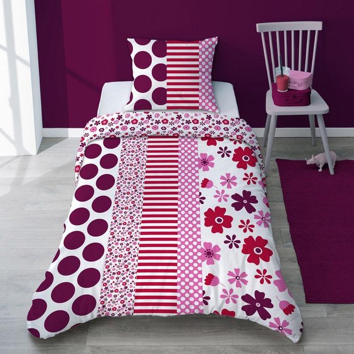taie d 39 oreiller imprim e fleurs liberty rouge selene et. Black Bedroom Furniture Sets. Home Design Ideas