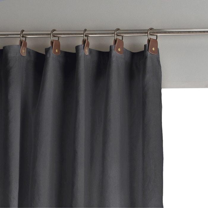 rideau lin lav occultant passants cuir private am pm en solde la redoute. Black Bedroom Furniture Sets. Home Design Ideas