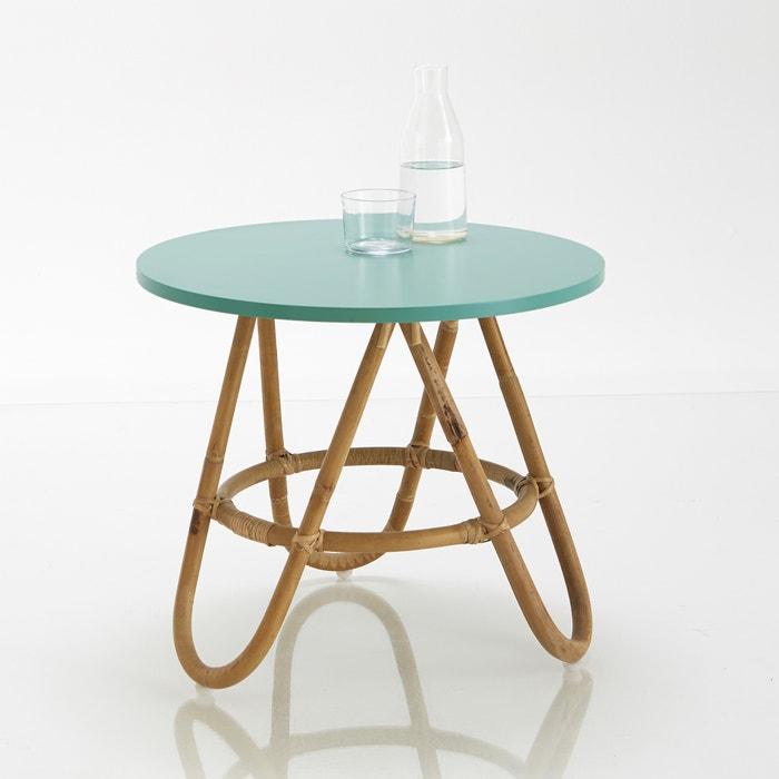 Imagen de Mesita de noche o mesa auxiliar de mimbre, Kok La Redoute Interieurs