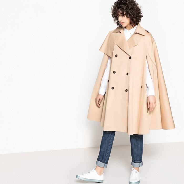 Premium Cotton Cape Trench Coat  FLORE GIRARD DE LANGLADE x LA REDOUTE image 0
