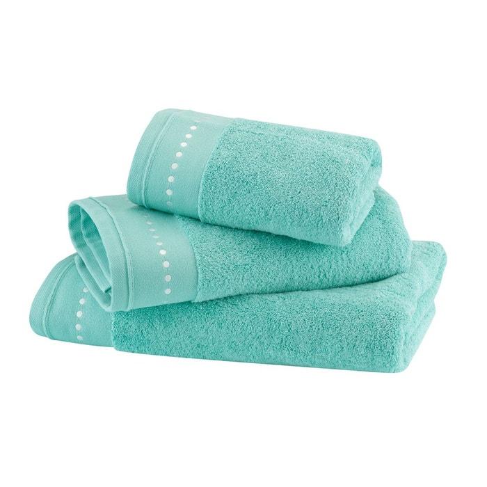 serviette de toilette coton peign 600 g m unie vert pastel vert blanc cerise la redoute. Black Bedroom Furniture Sets. Home Design Ideas