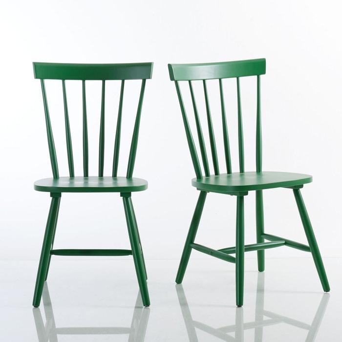 Chaise à barreaux hévéa massif, JIMI (lot de 2)  La Redoute Interieurs image 0
