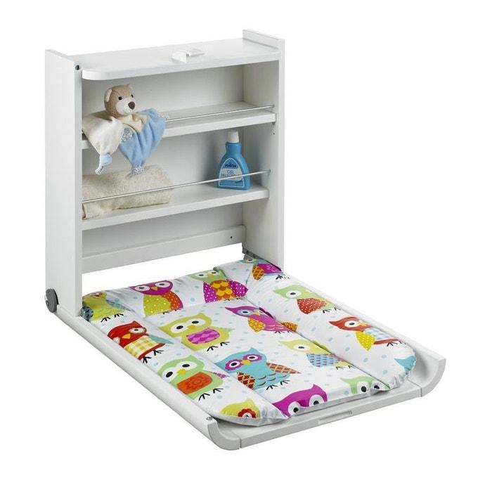table langer murale wanda blanc avec matelas chouette geuther geuther la redoute. Black Bedroom Furniture Sets. Home Design Ideas
