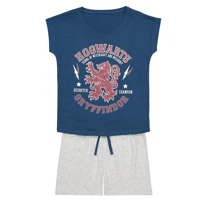 fd90f2212dfde Pyjashort 6-12 ans bleu + gris chiné Harry Potter
