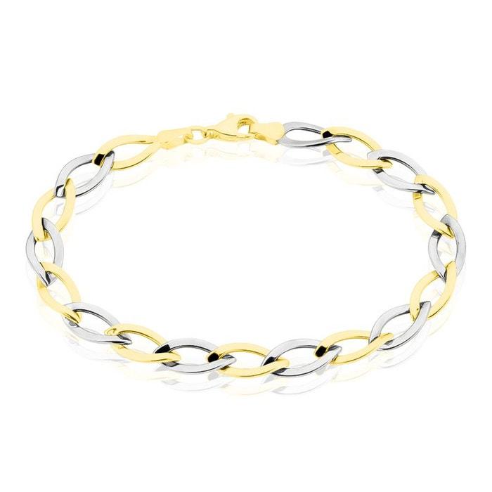Bracelet or bicolore et rhodiage bicolore Histoire D'or | La Redoute classique T0KTDE