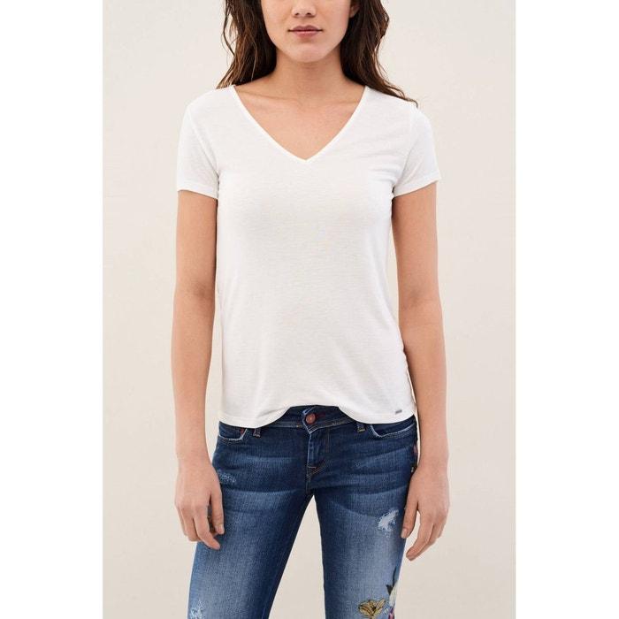 Avec T Dans Détail Shirt Dos Tissu Le En Perle Austria Salsa La Hwqq5rXBx