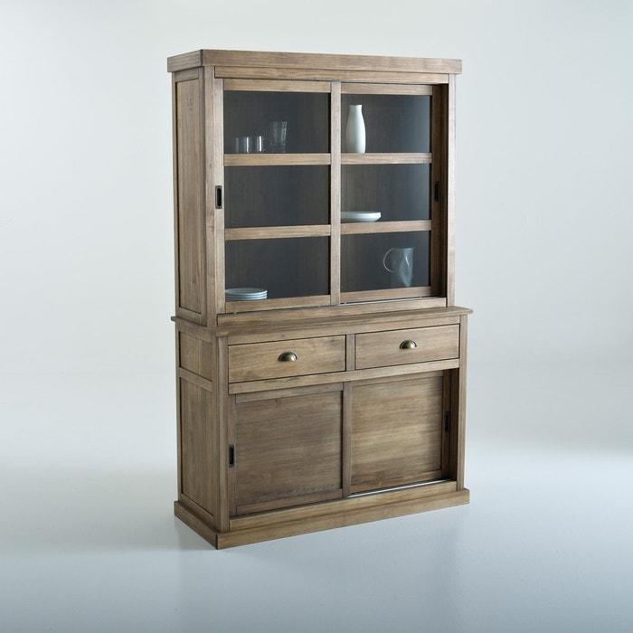 Mueble para vajilla con 2 puertas deslizantes lunja encerado natural la redoute interieurs la - Muebles para vajilla ...