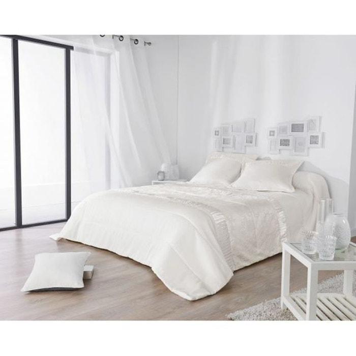 jet de lit avec d tail satin blanc home maison la redoute. Black Bedroom Furniture Sets. Home Design Ideas