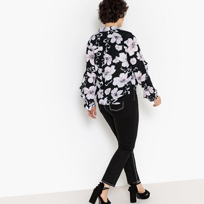 de flores de estampada Camisa larga manga CASTALUNA q8I60wt