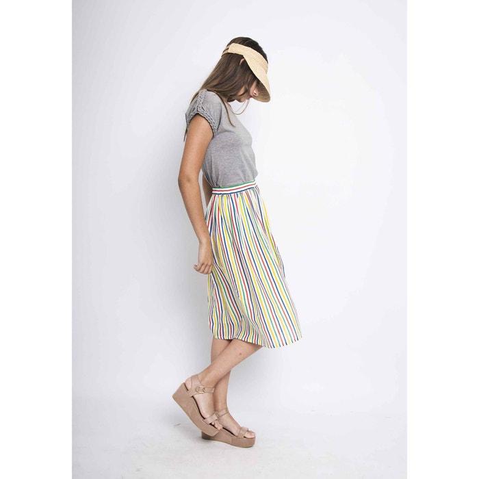 COMPANIA 233; midi Falda y con FANTASTICA evas multicolor rayas largo 1w7rY7tq