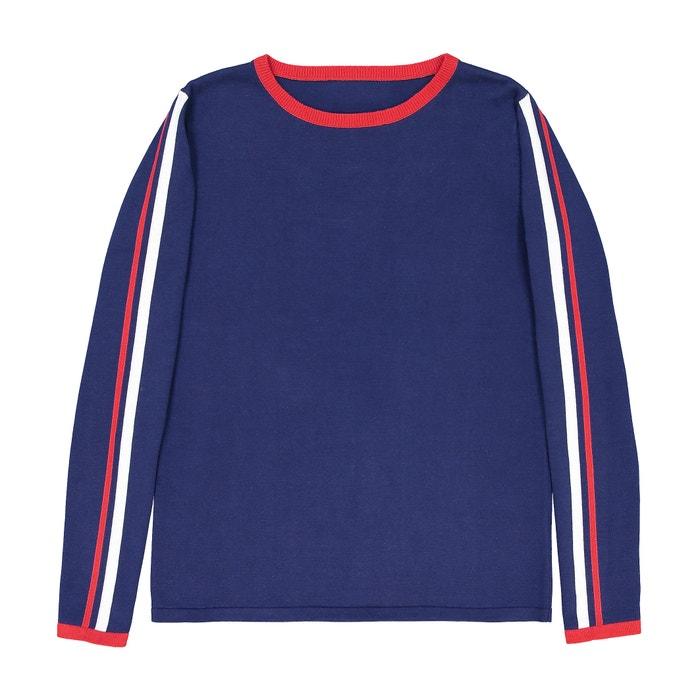 фото Пуловер хлопковый с графичным рисунком La Redoute Collections