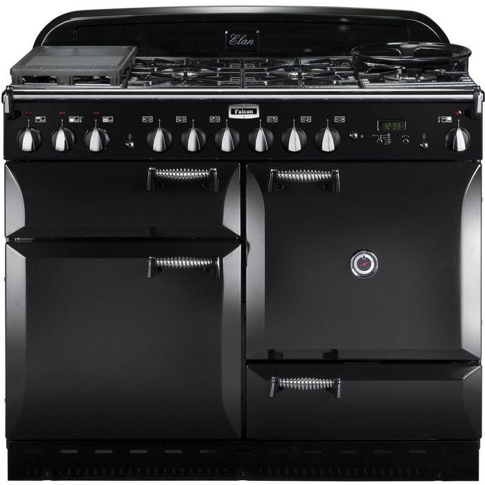 Piano de cuisson mixte elan110 mixt noir brillant couleur - Piano de cuisson noir ...