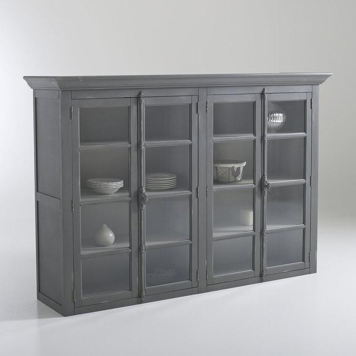 vaisselier 4 portes patin eulali la redoute interieurs gris anthracite la redoute. Black Bedroom Furniture Sets. Home Design Ideas