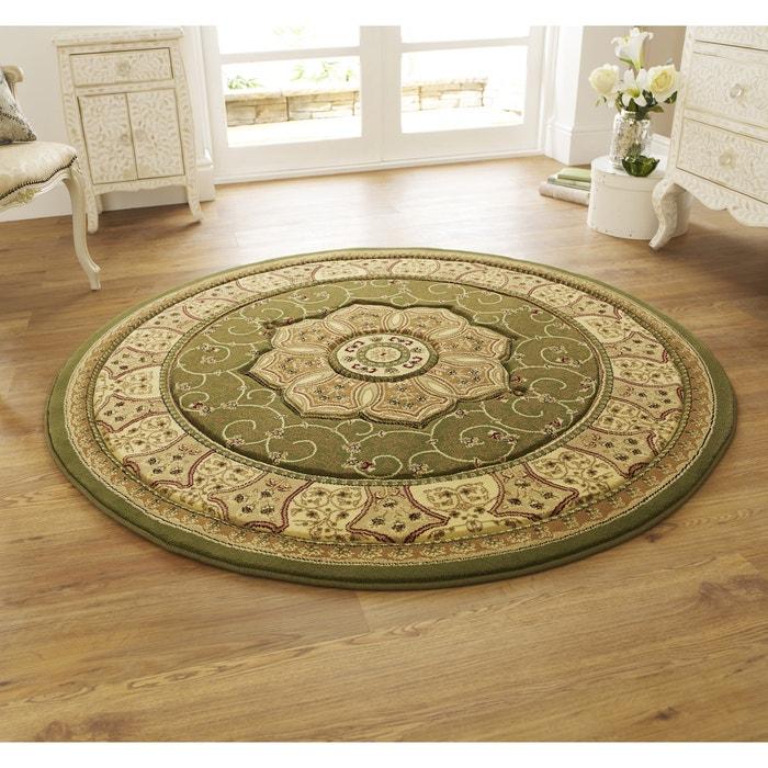 Traditional Persian Circle Rug Green