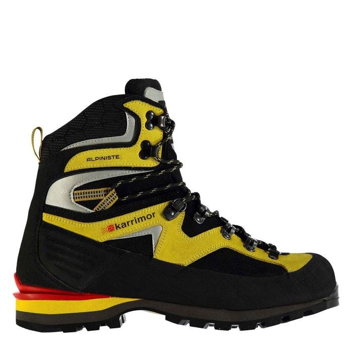 Bottes de marche imperméables randonné noir jaune Karrimor