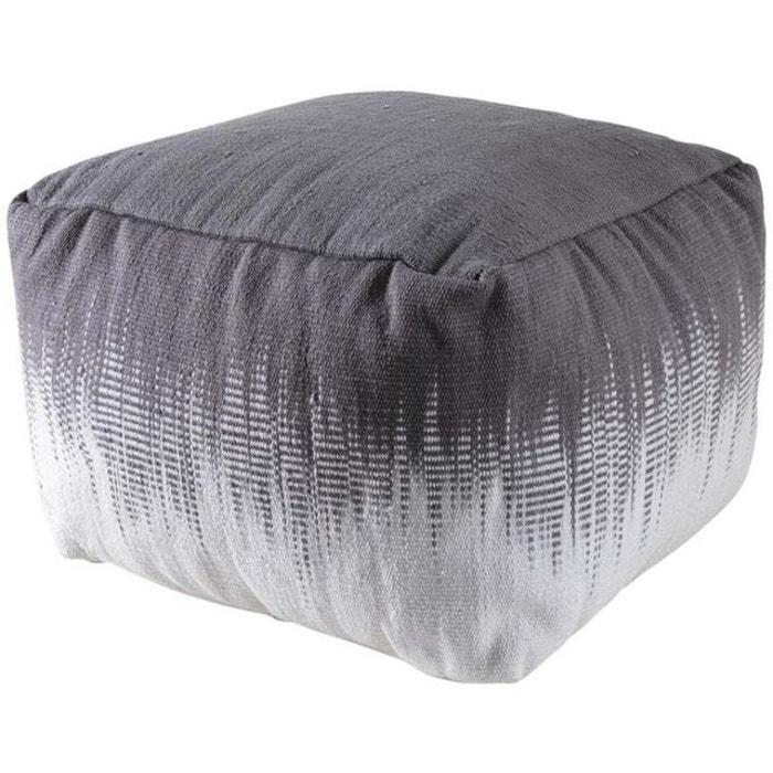 pouf carr en coton plumes gris aubry gaspard la redoute. Black Bedroom Furniture Sets. Home Design Ideas