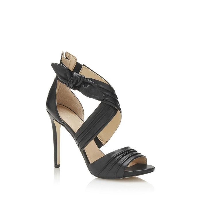 Sandale azali cuir veritable noir Guess Boutique En Ligne De La France ujYY95