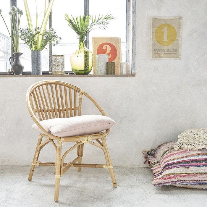 fauteuil rotin vintage bois clair bois dessus bois dessous la redoute. Black Bedroom Furniture Sets. Home Design Ideas