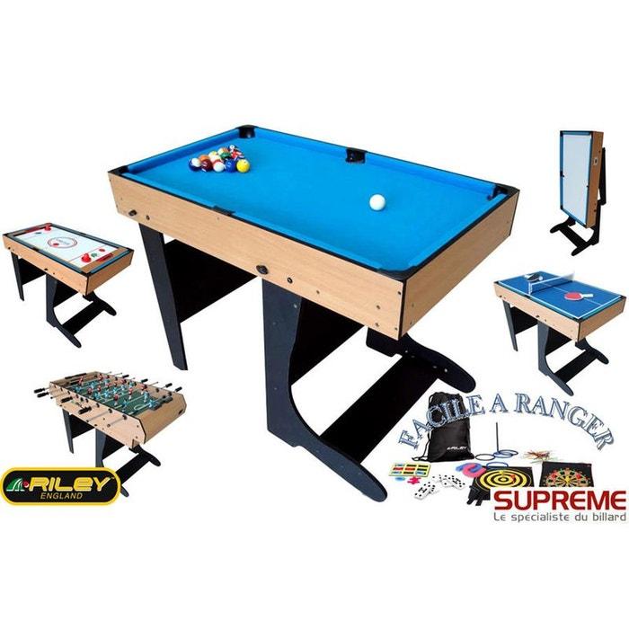 billard multi jeux 21 en 1 pliable bois couleur unique. Black Bedroom Furniture Sets. Home Design Ideas