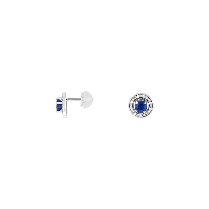 Boucles d'oreilles or 375/1000 saphir bleu Cleor | La Redoute Réductions À Bas Prix Prix Pas Cher France Jeu Abordable eREuJm6b