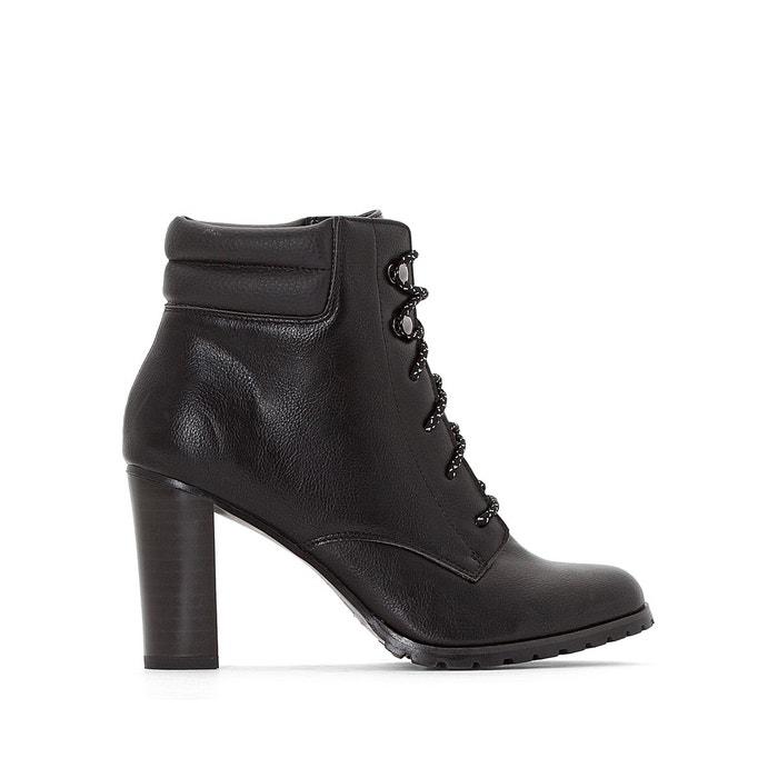 Boots esprit montagne talon haut  noir La Redoute Collections  La Redoute