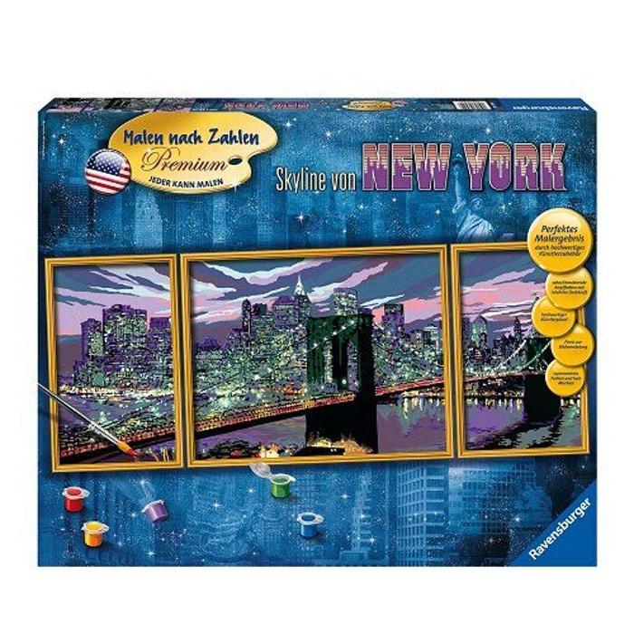 Peinture au numéro triptyque : dans le ciel de new york version ...