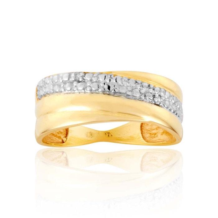 Bague or 375/1000 diamant blanc Cleor | La Redoute Autorisation De Vente Pas Cher Nouvelle Visite Pas Cher Livraison Gratuite Pas Cher Eastbay Vente En Ligne LQTCyS